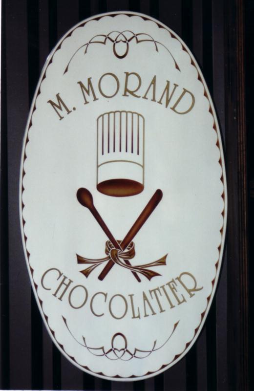 Enseigne chocolatier