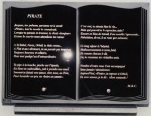 Livré sablé photogravé