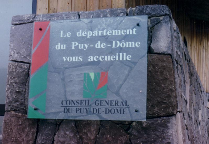 """Panneau Puy-de-D""""me"""