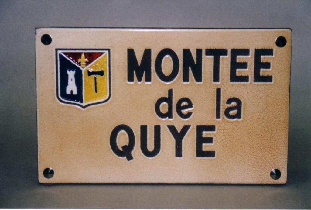 Plaque de rue Montpeyroux 63